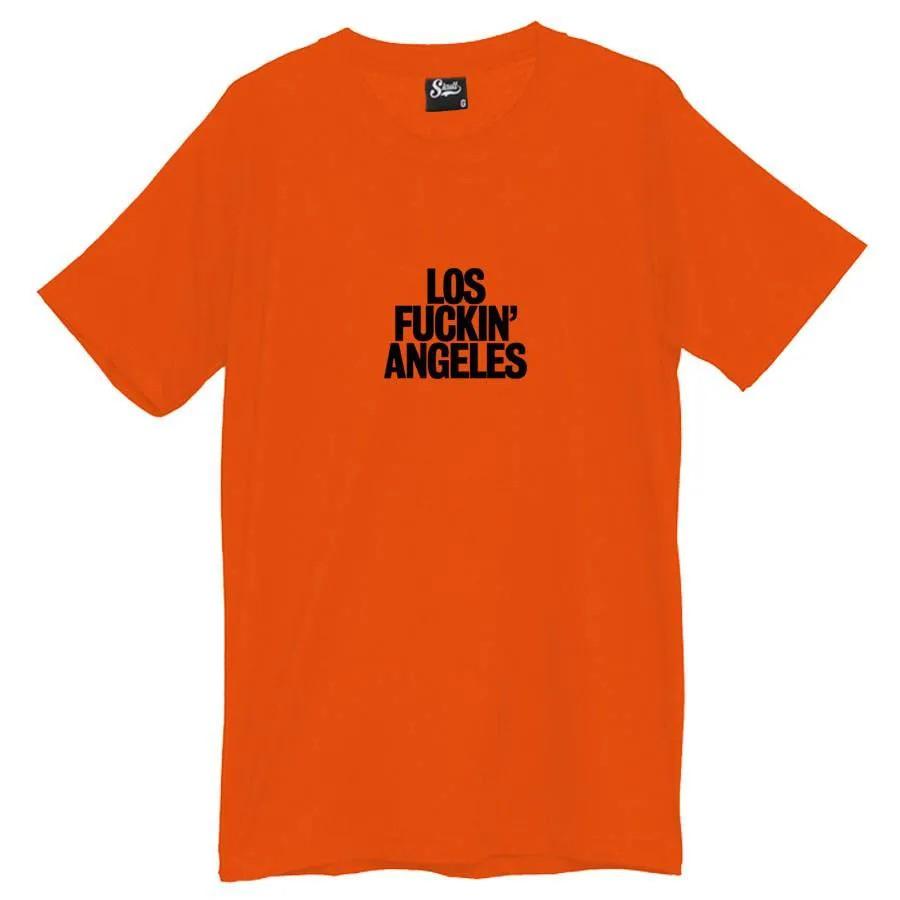 Camiseta Masculina Los Fuckin Angeles Laranja