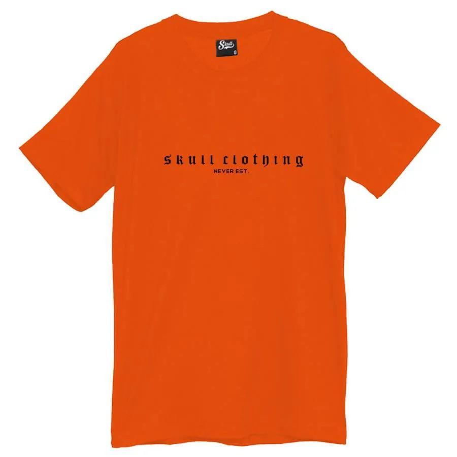 Camiseta Masculina Never Est Laranja