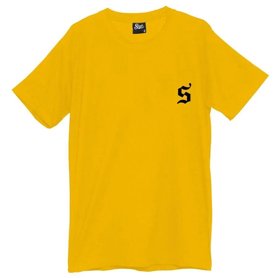 Camiseta Masculina Skull Only Amarela