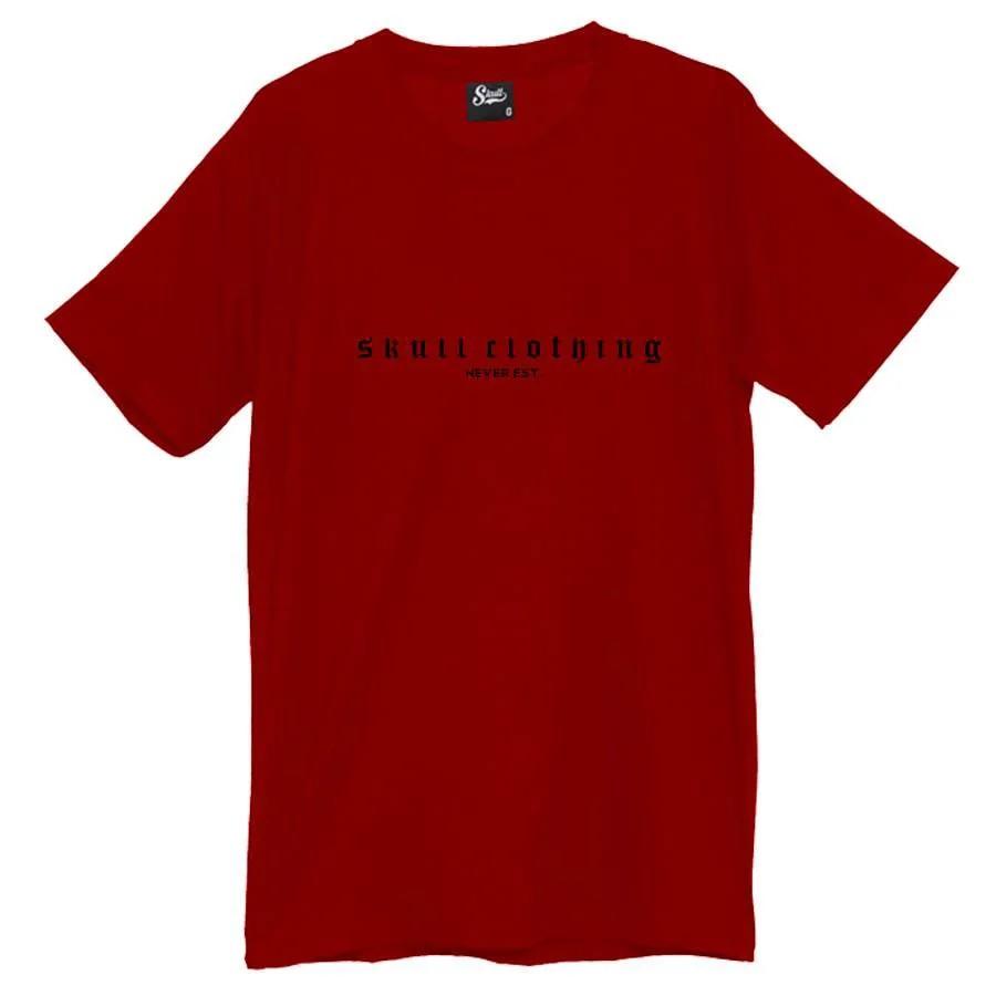 Camiseta Never Est Vermelha