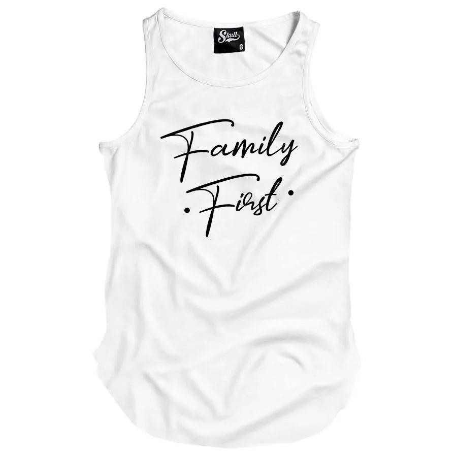 Camiseta Regata Longline Family First