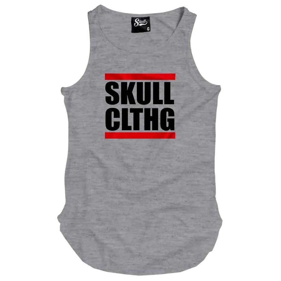 Camiseta Regata Longline Skull DMC
