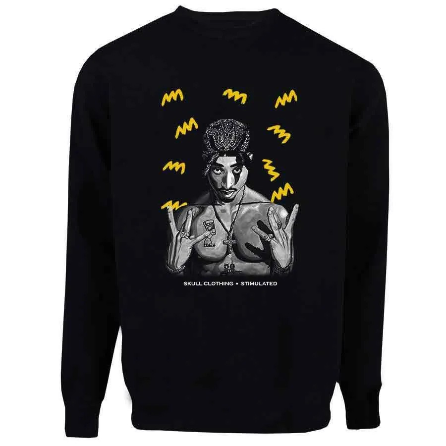 Casaco Moletom Tupac Yellow