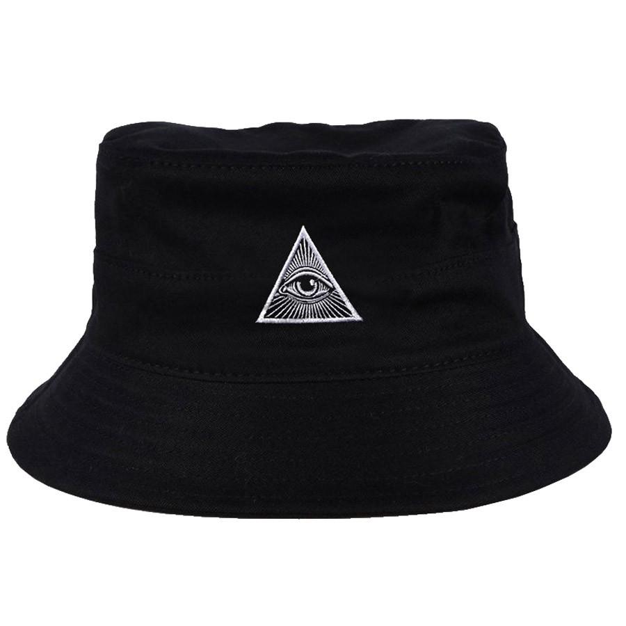 Chapéu Bucket Illuminati Preto