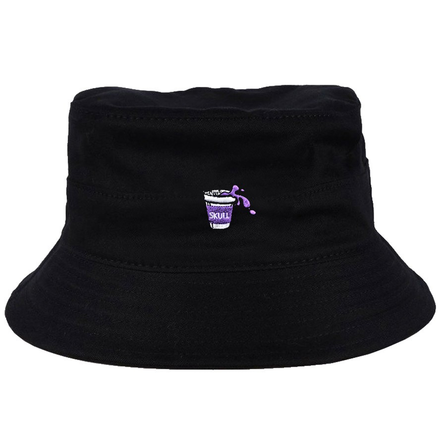 Chapéu Bucket Purple Juice Preto