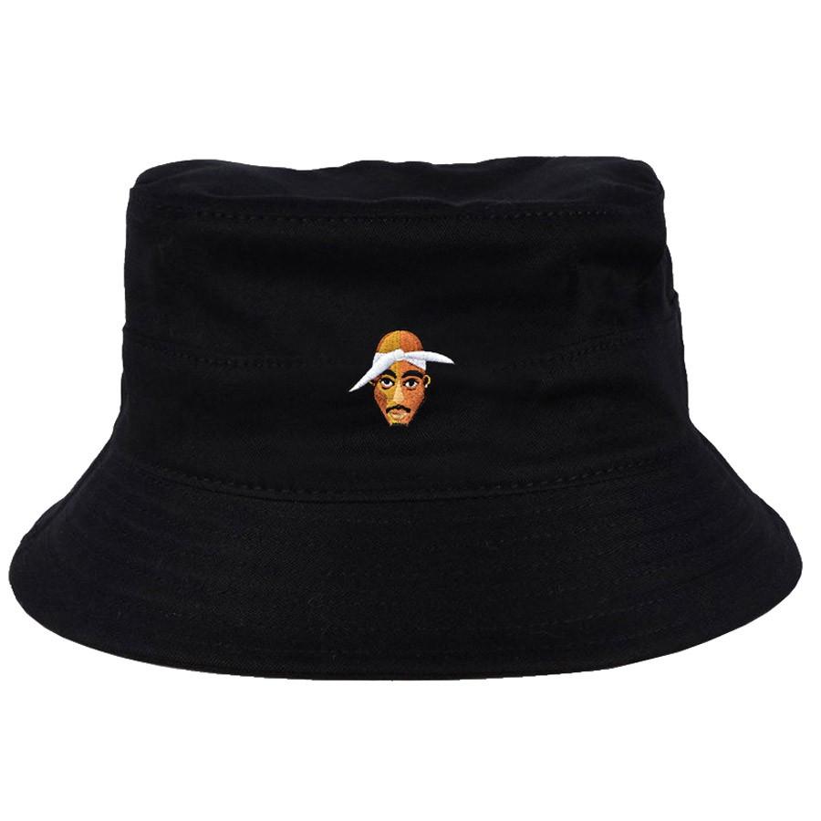 Chapéu Bucket Tupac Face Preto