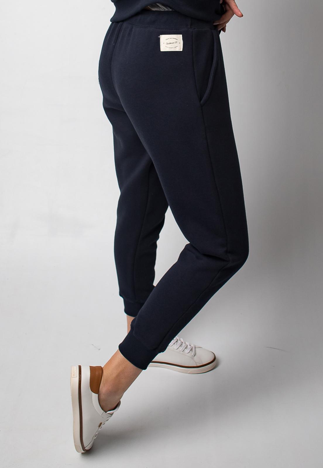 Calça Moletom Feminina Azul Escuro