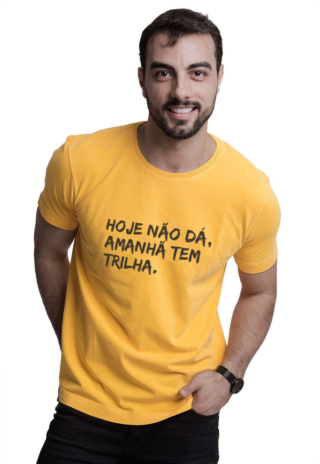 Camiseta Amanhã tem Trilha Amarela