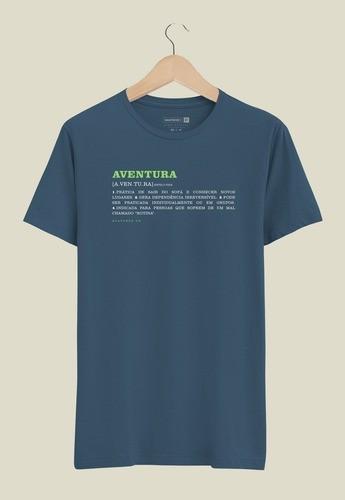 Camiseta Aventura Dicionário Azul