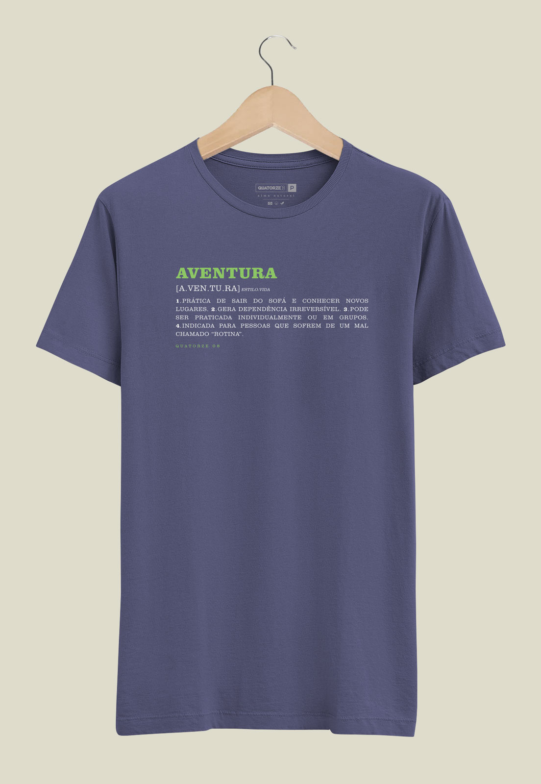 Camiseta Aventura Dicionário Azul Estonada