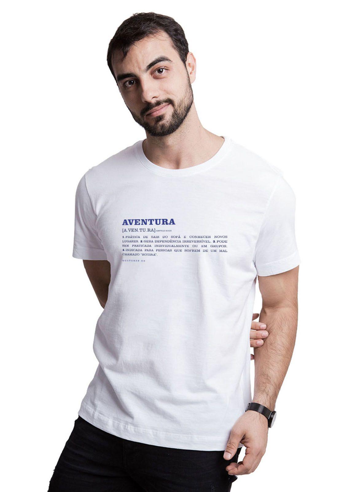 Camiseta Aventura Dicionário Branca