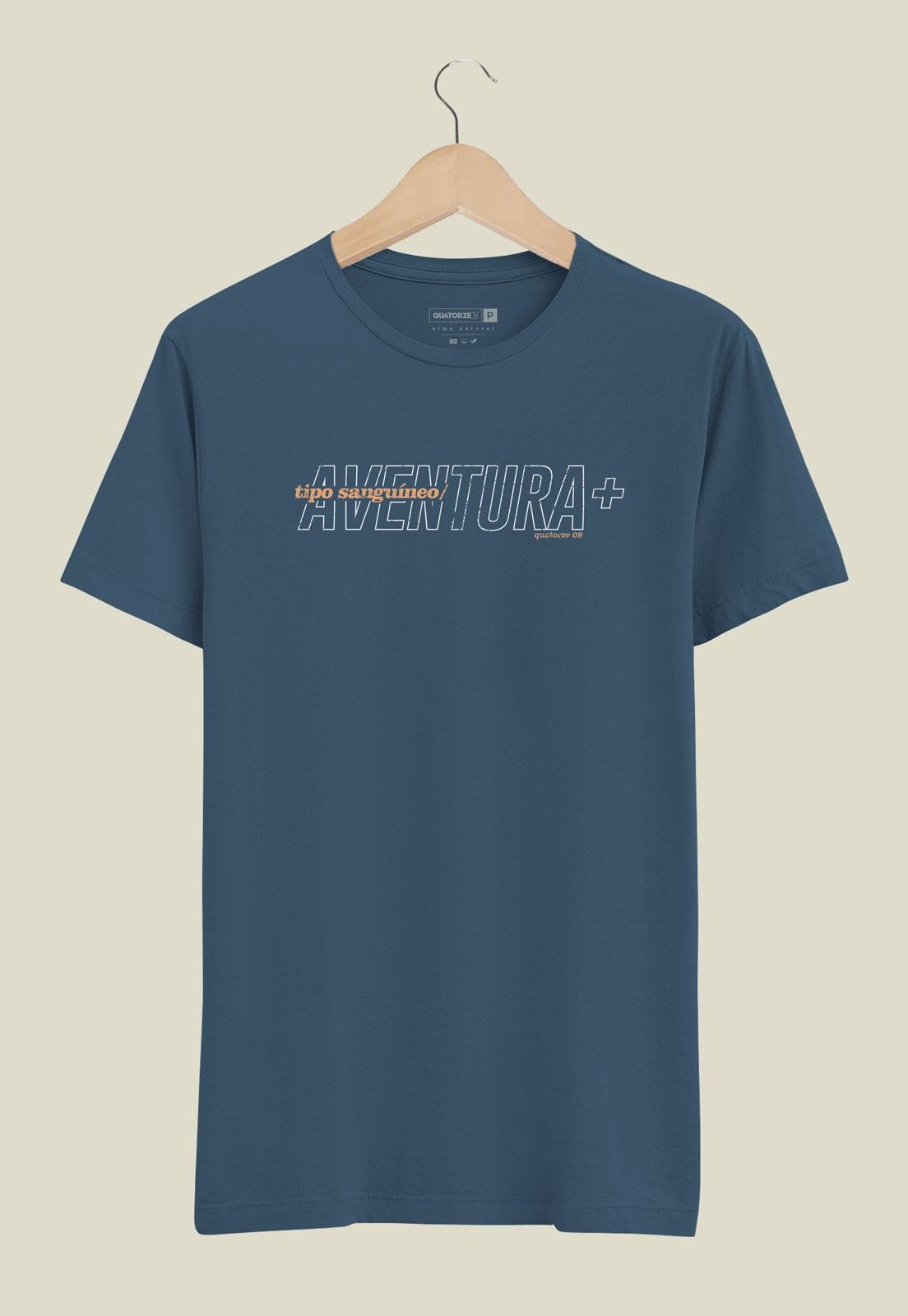 Camiseta Aventura Positivo Azul Marinho