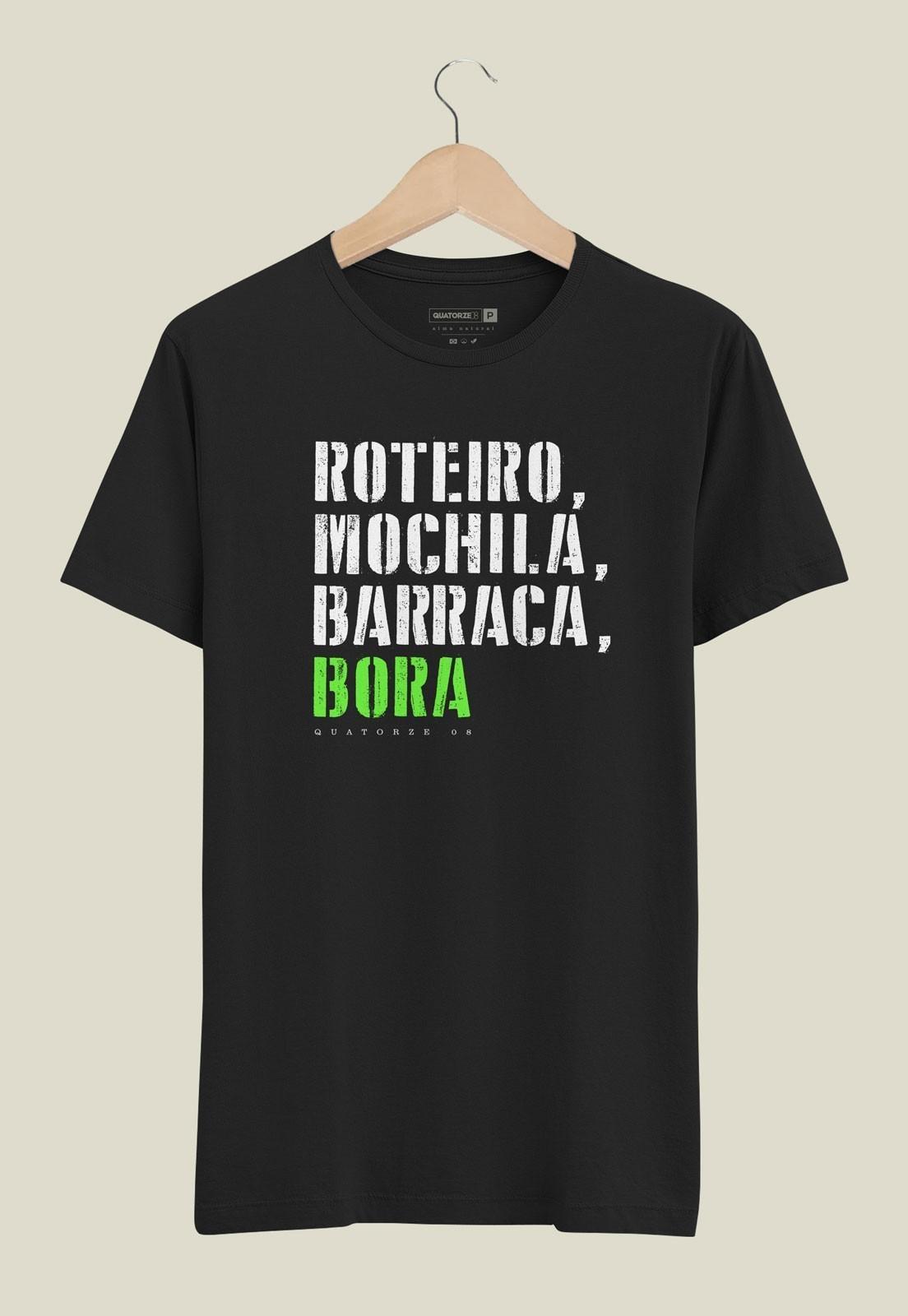 Camiseta Barraca e Bora Preta