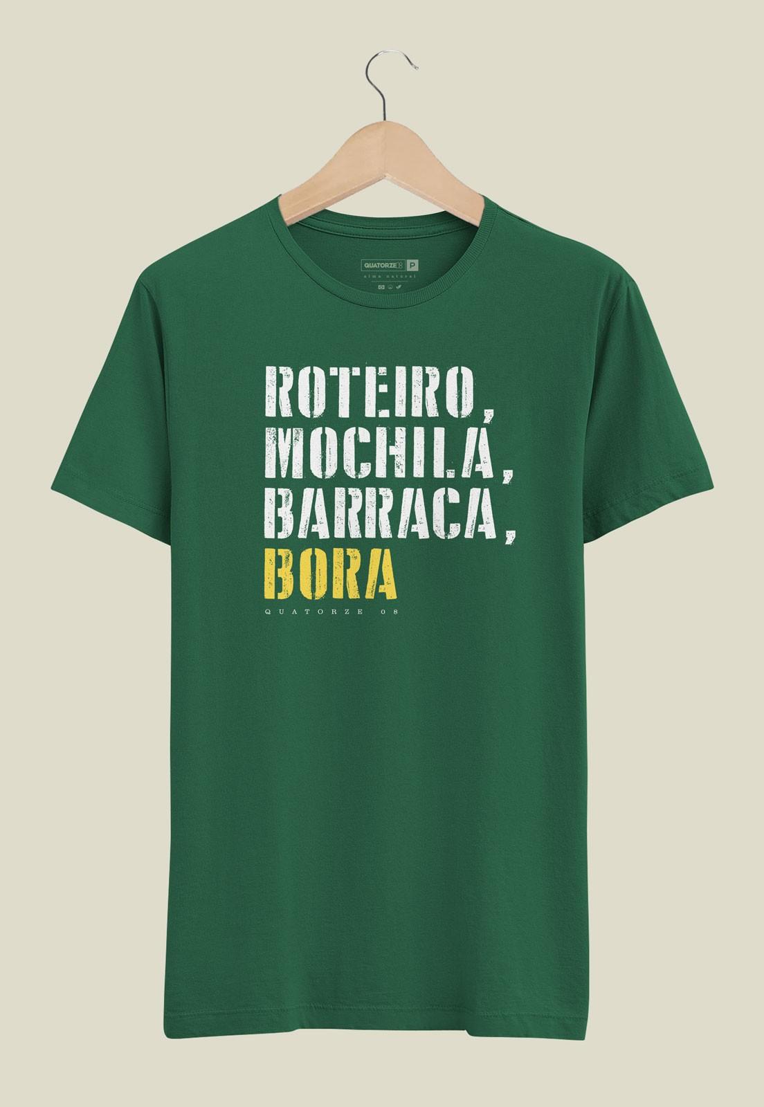 Camiseta Barraca e Bora Verde Escuro
