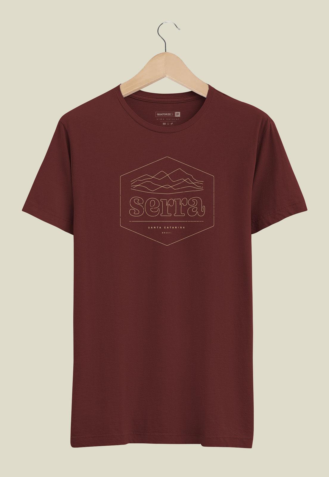 Camiseta Bordô de Algodão Serra