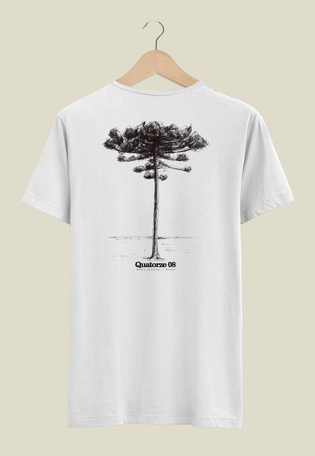 Camiseta Branca de Algodão Araucária
