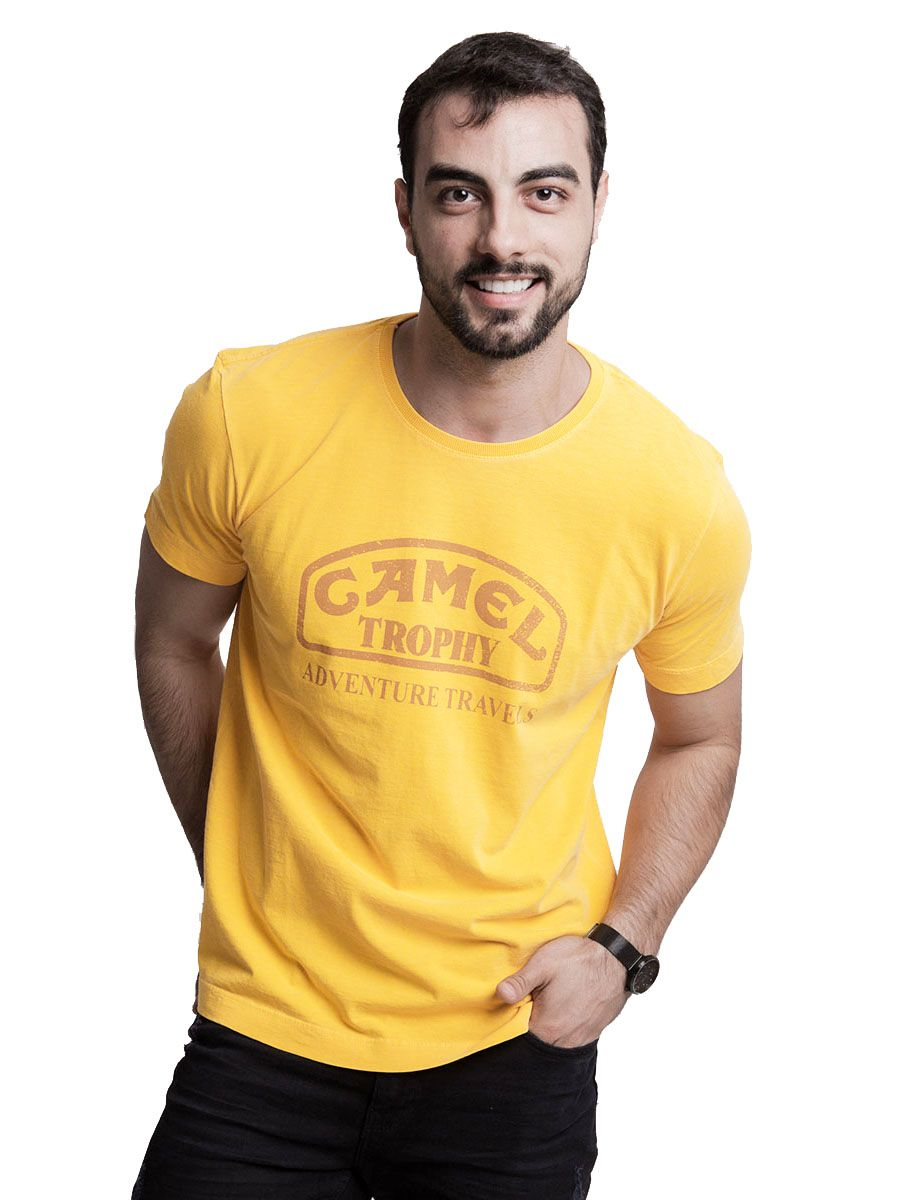 Camiseta Camel Amarela