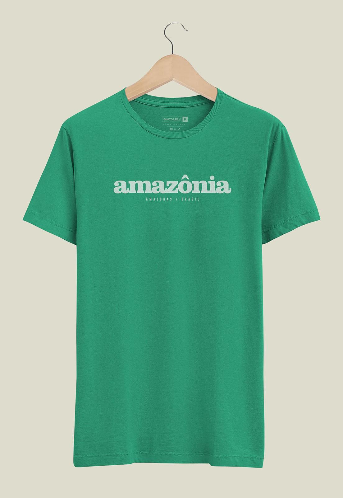 Camiseta Destinos Amazônia Verde Médio