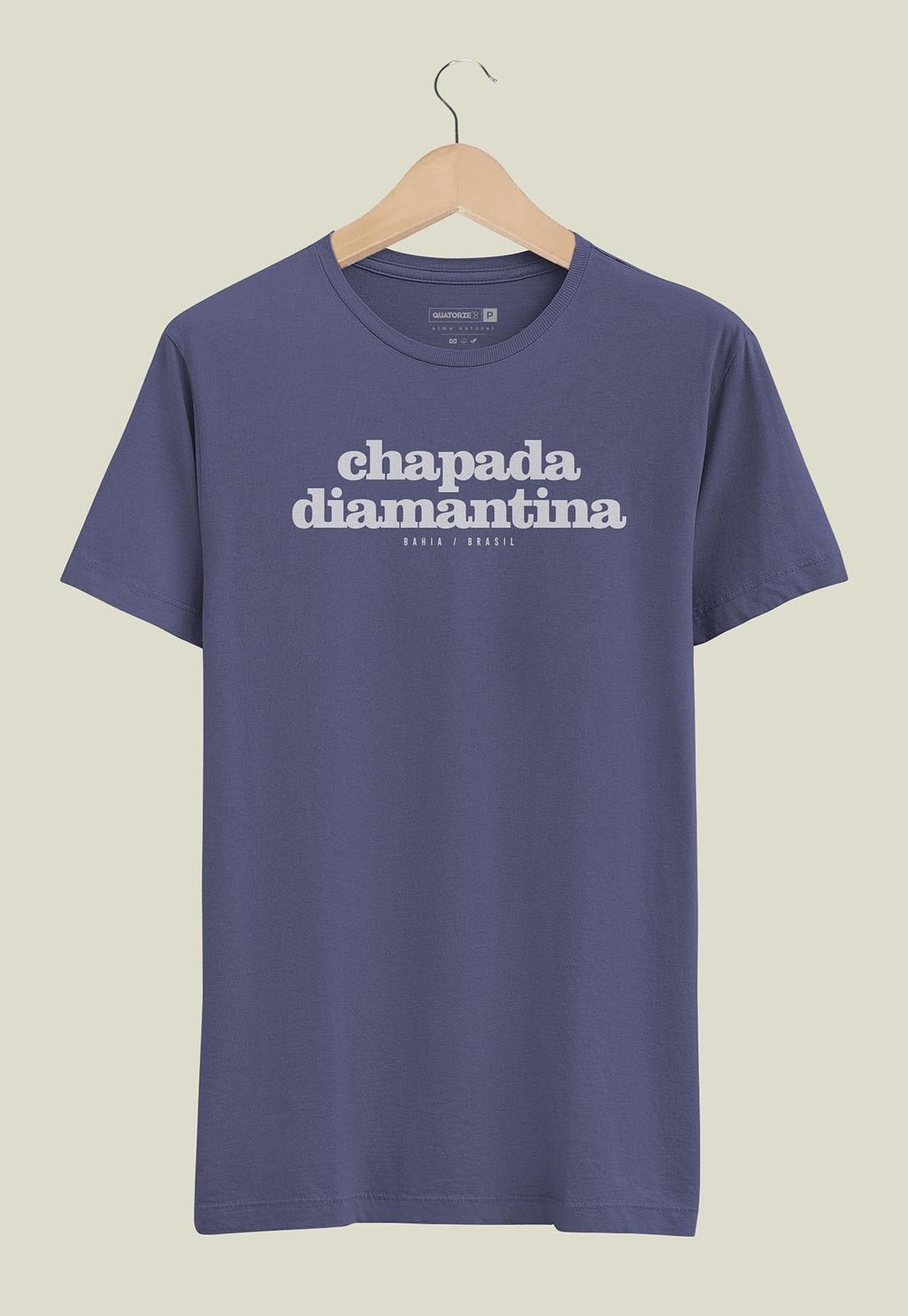 Camiseta Destinos Chapada Diamantina Azul Médio