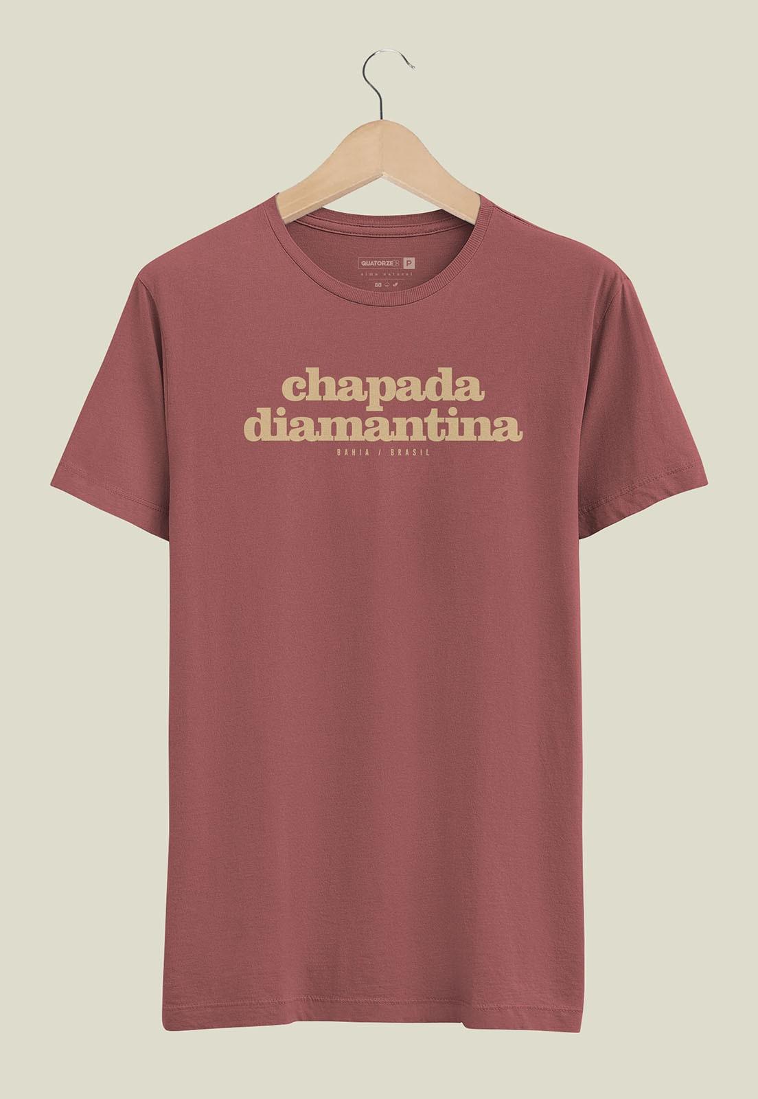 Camiseta Destinos Chapada Diamantina Bordo Estonada
