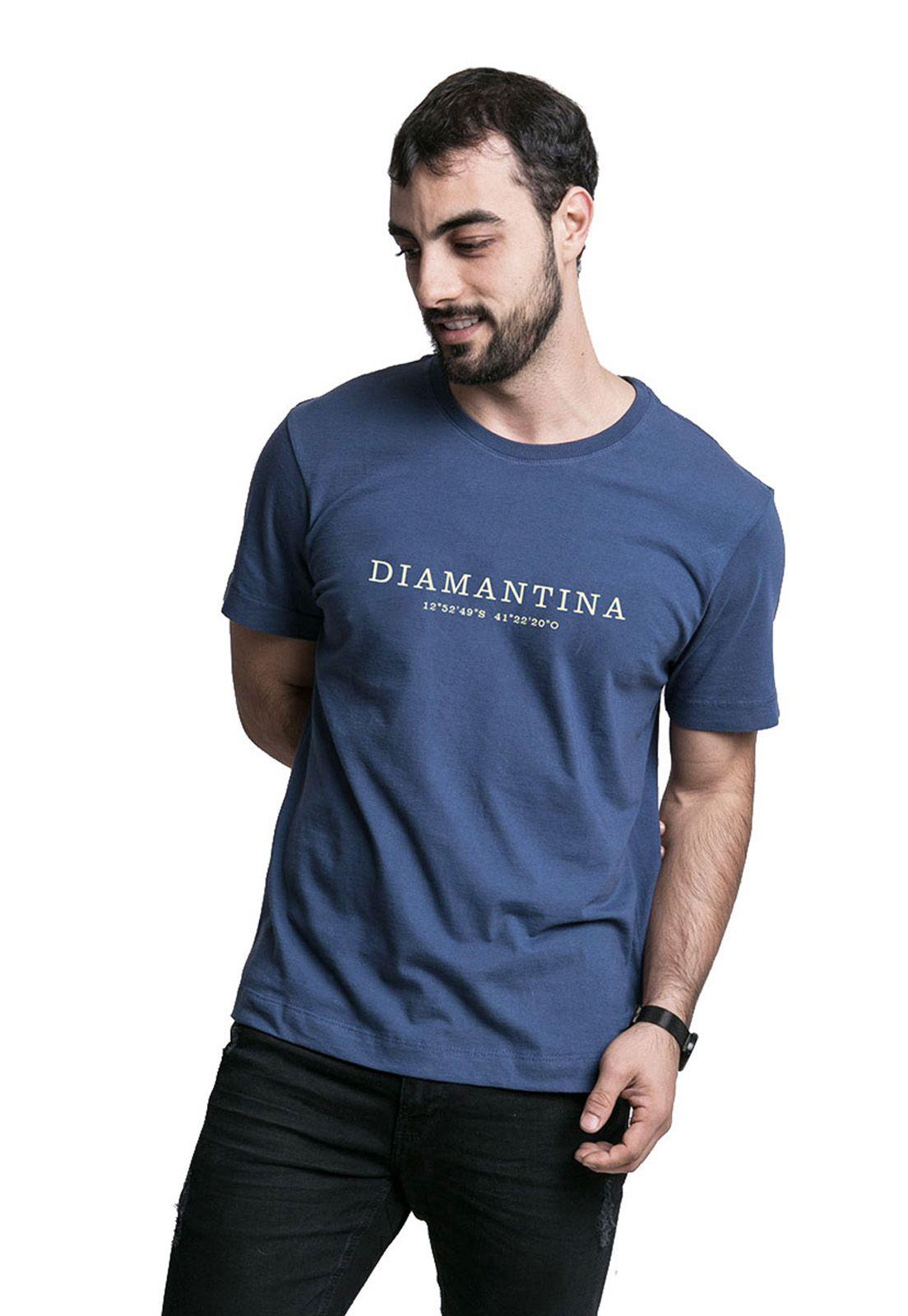 Camiseta Destinos Diamantina Azul Marinho