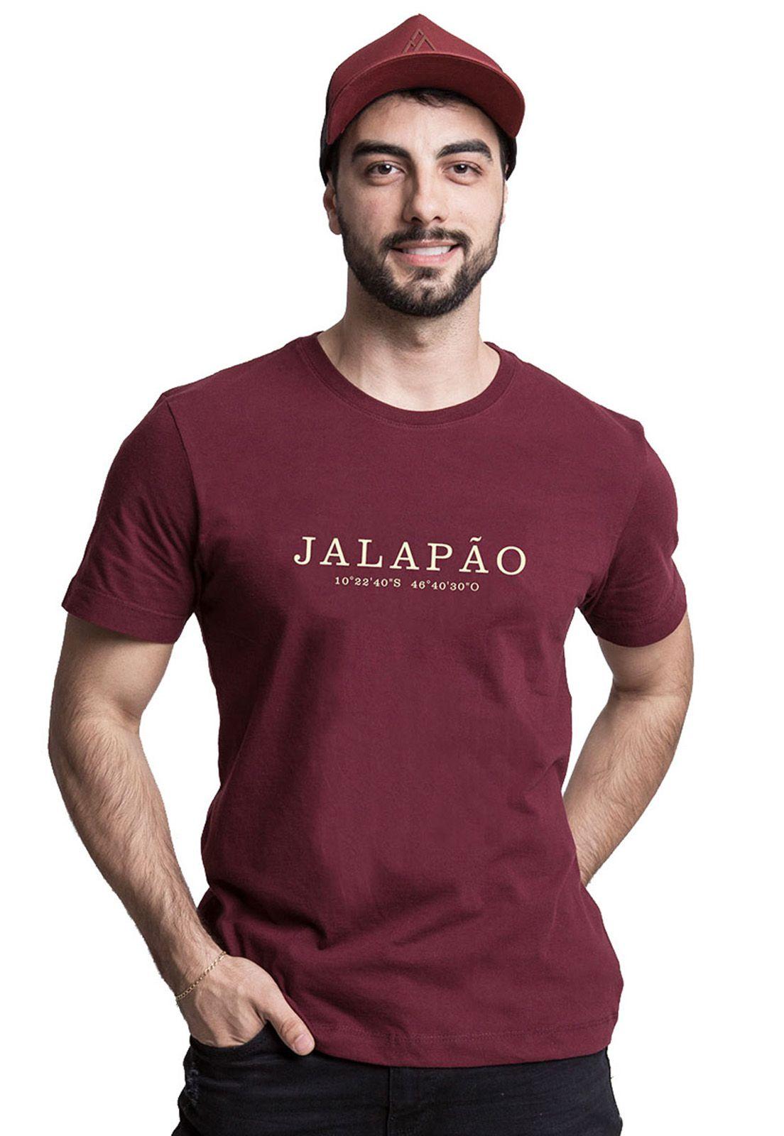 Camiseta Destinos Jalapão Bordô