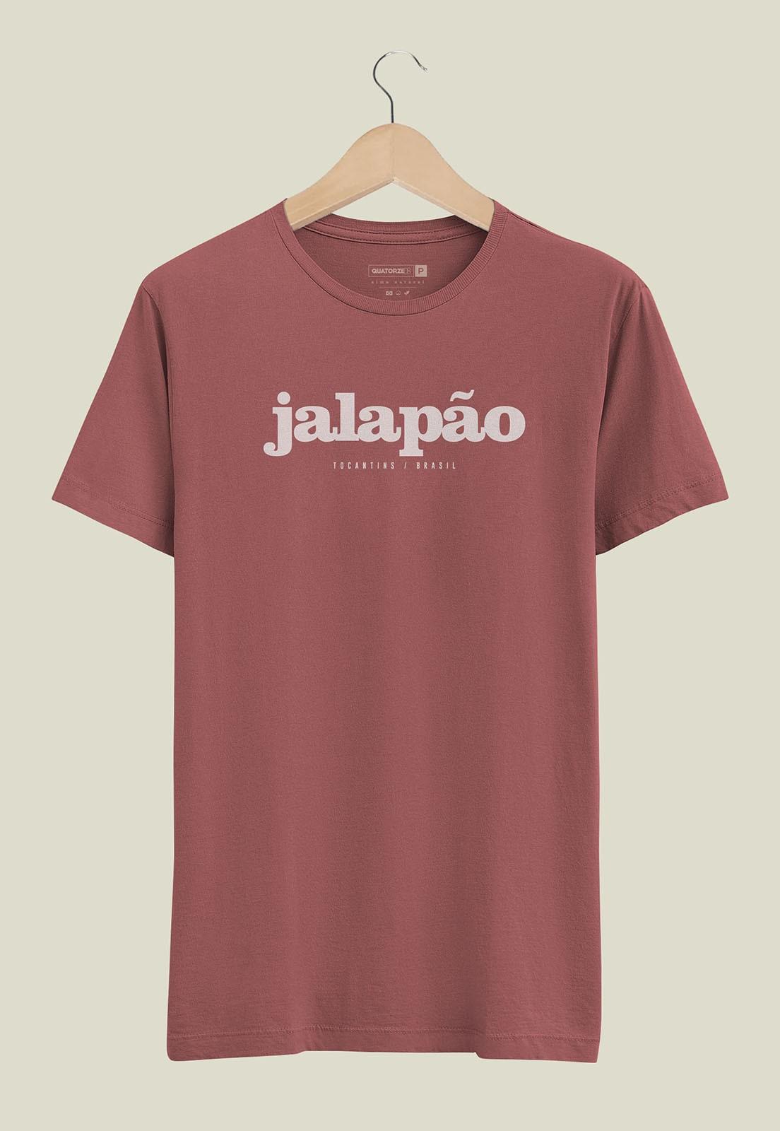 Camiseta Destinos Jalapão Bordô Estonada