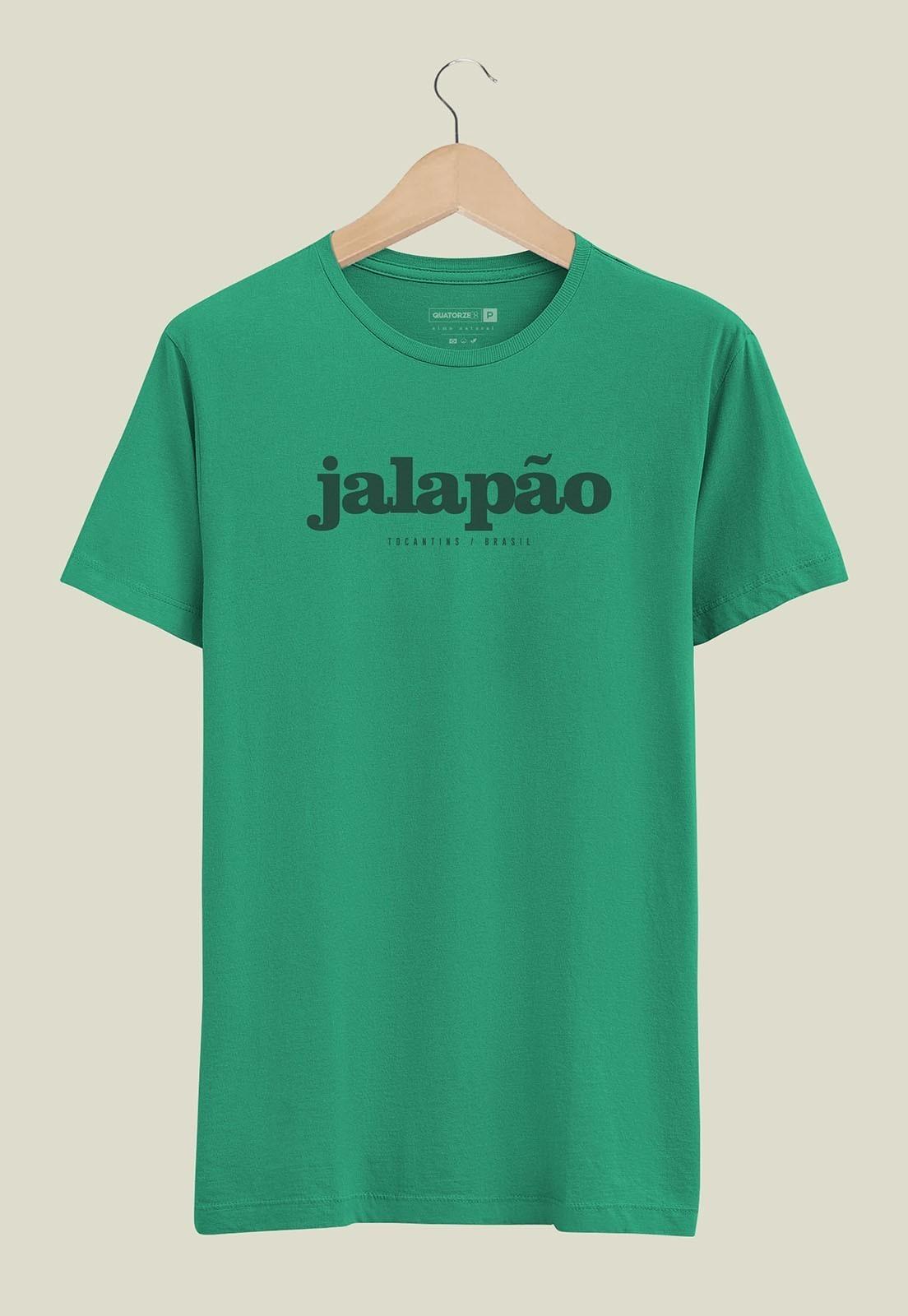 Camiseta Destinos Jalapão Verde Médio