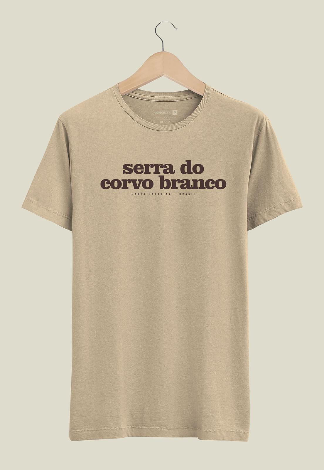 Camiseta Destinos Serra do Corvo Branco Areia