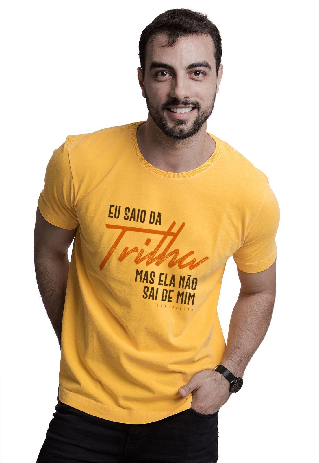 Camiseta Eu Saio da Trilha Amarela