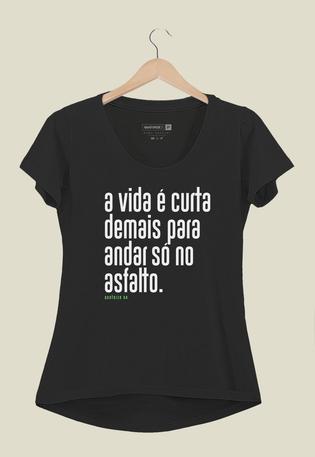 Camiseta Feminina A Vida é Curta Preta