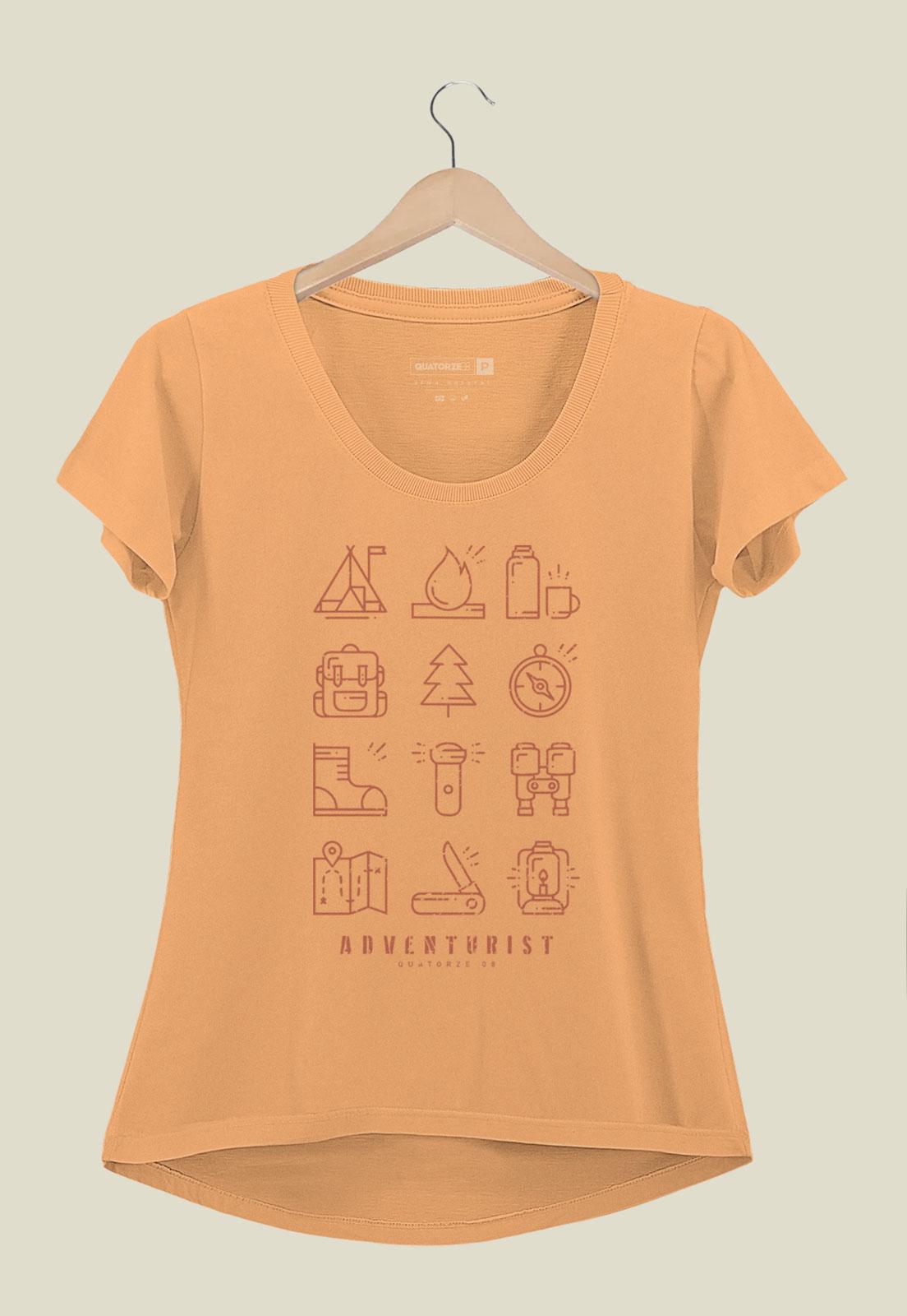 Camiseta Feminina Adventurist Laranja