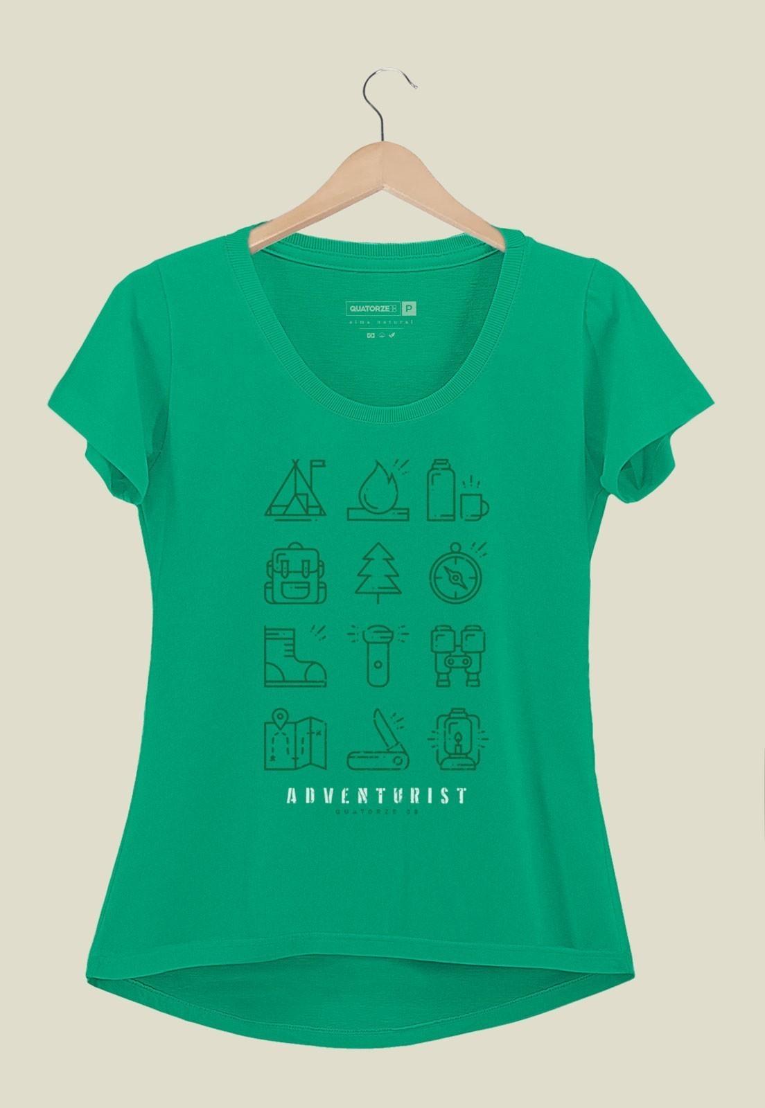 Camiseta Feminina Adventurist Verde Médio