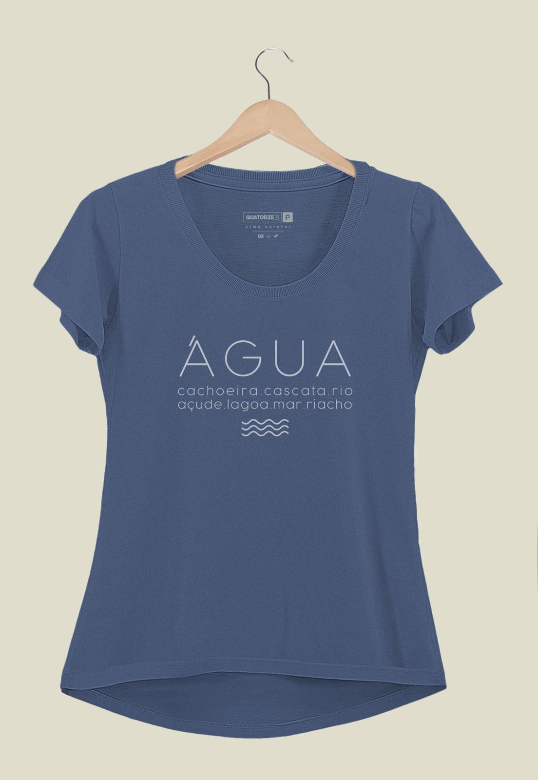 Camiseta Feminina Água Azul Marinho