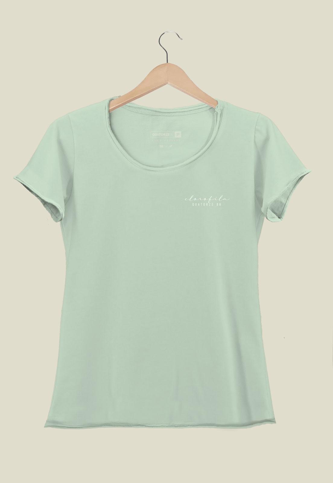 Camiseta Feminina Clorofila Tingimento Natural