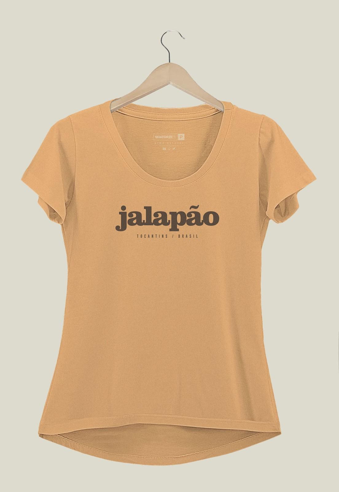 Camiseta Feminina Destinos Jalapão Laranja