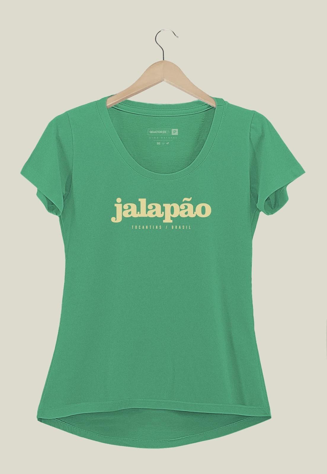 Camiseta Feminina Destinos Jalapão Verde Médio