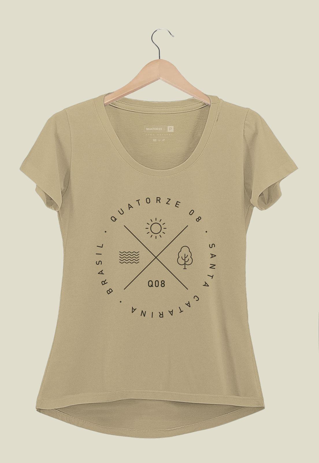 Camiseta Feminina Elementos Areia