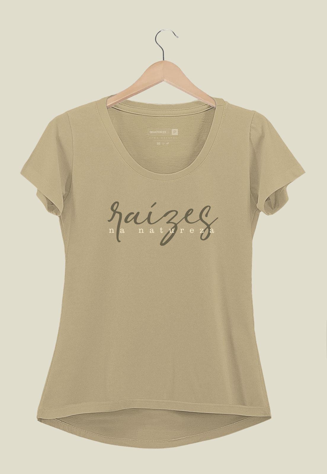 Camiseta Feminina Raízes Areia