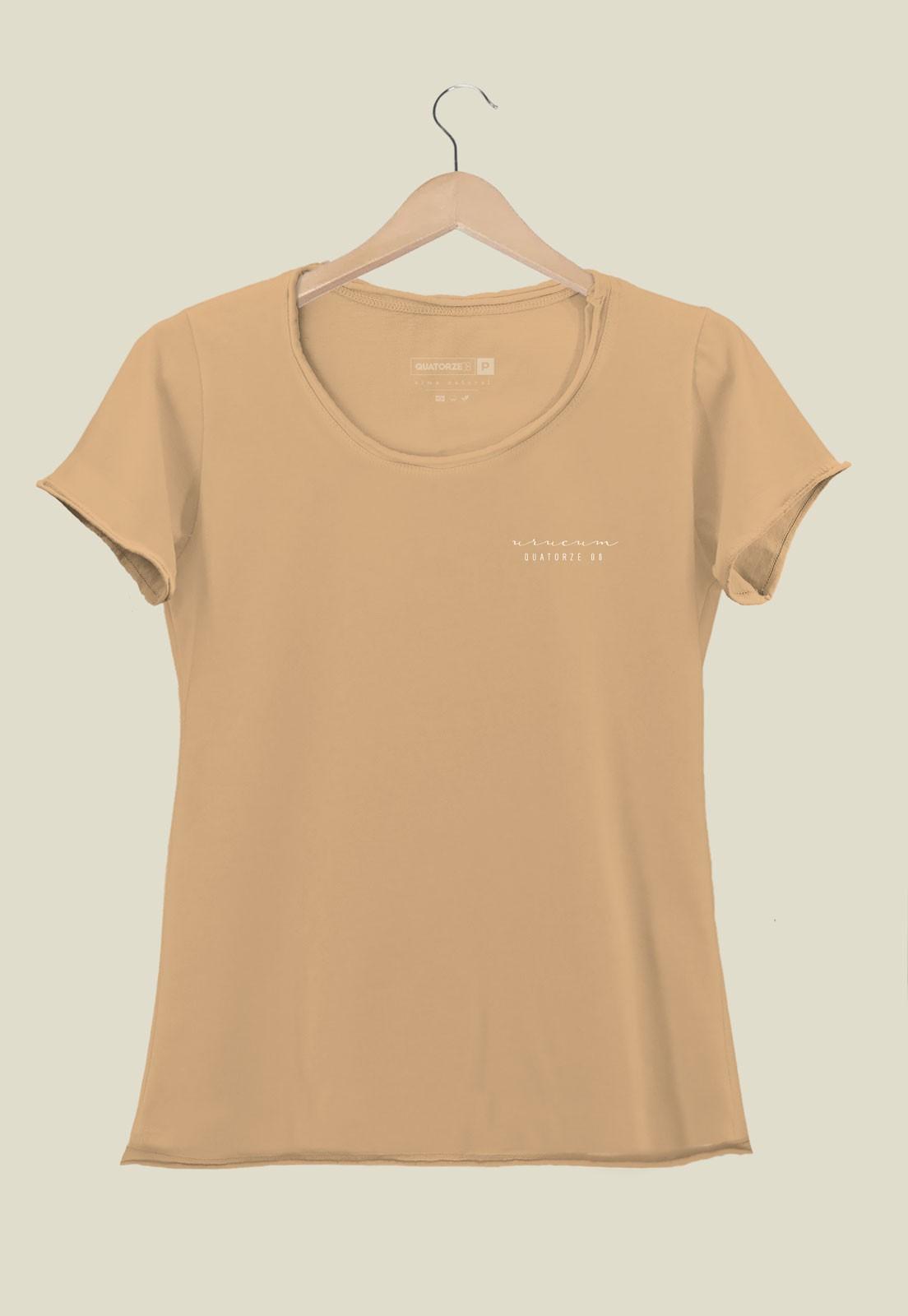 Camiseta Feminina Urucum Tingimento Natural