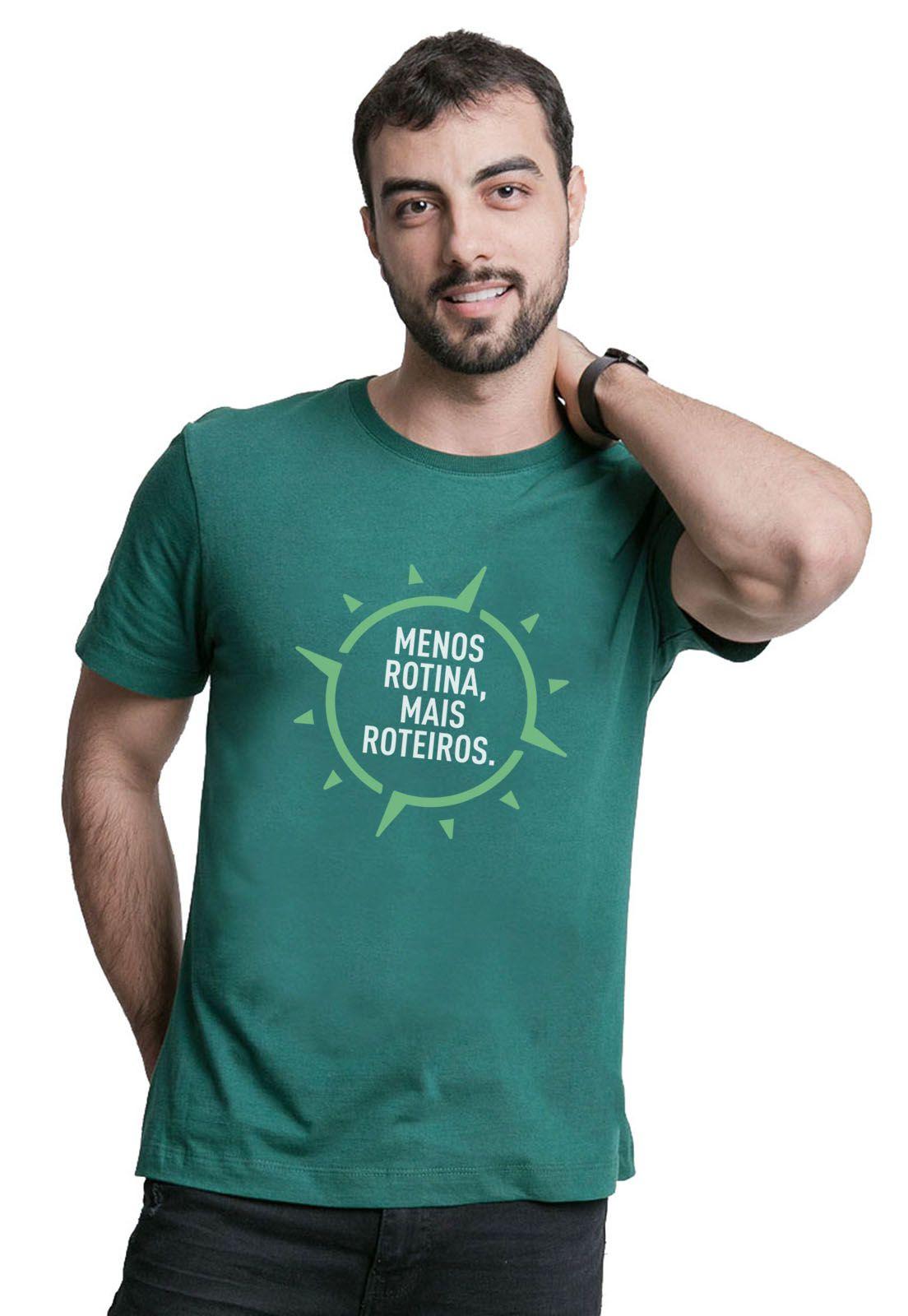 Camiseta Menos Rotina Verde Escuro