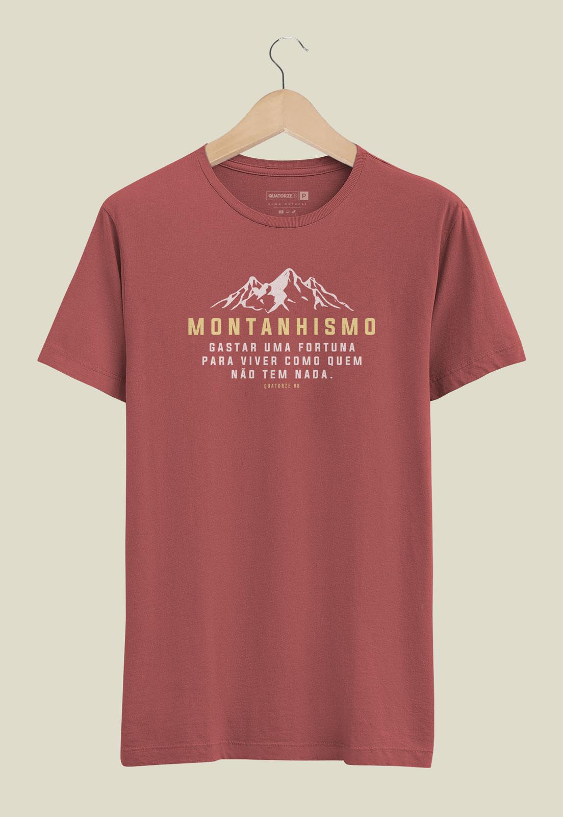 Camiseta Montanhismo Bordô Estonado