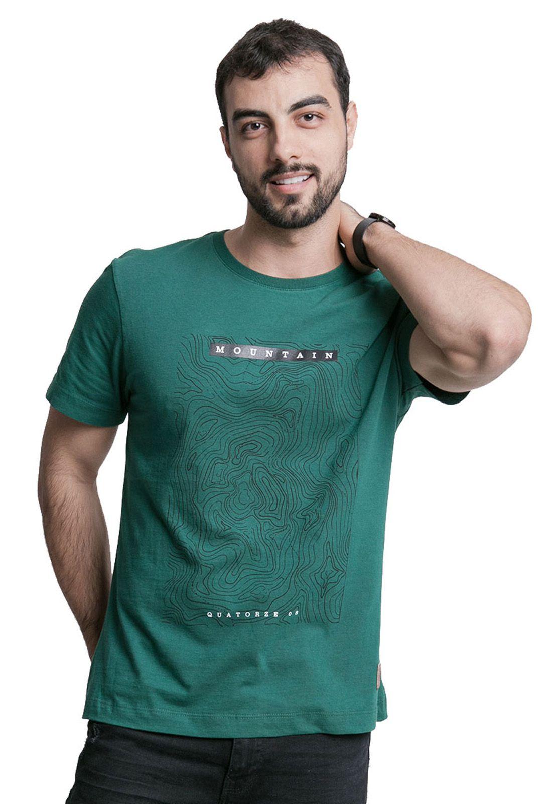 Camiseta Mountain Verde Escuro