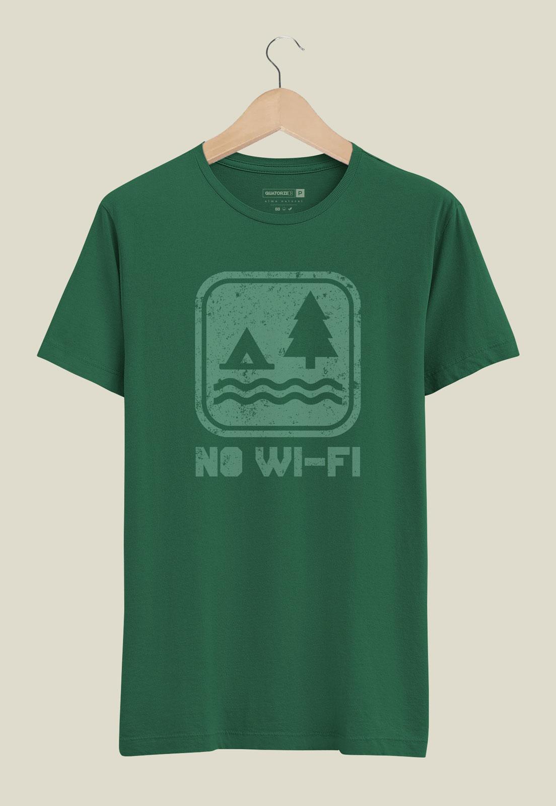 Camiseta No Wi-fi Verde Escuro