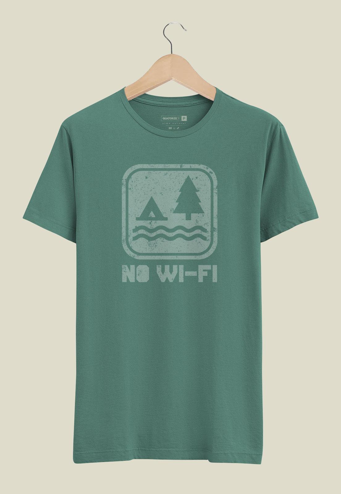 Camiseta No Wi-fi Verde Estonada