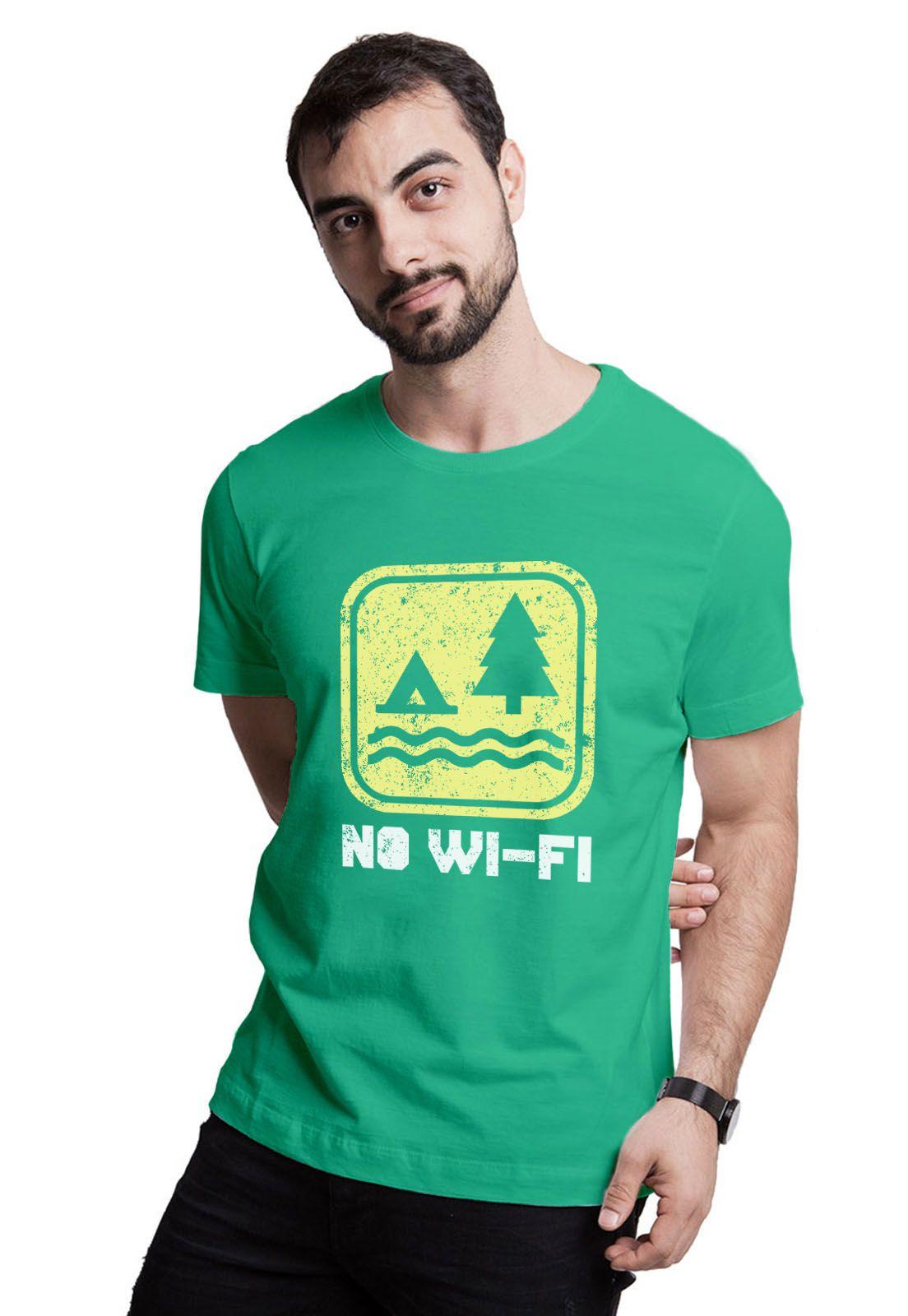 Camiseta No Wi-fi Verde Médio