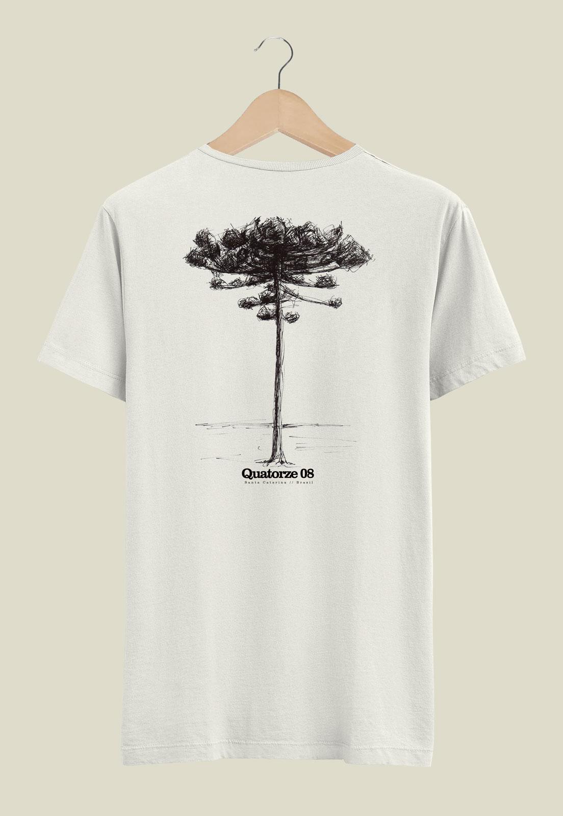Camiseta Off-White de Algodão Araucária