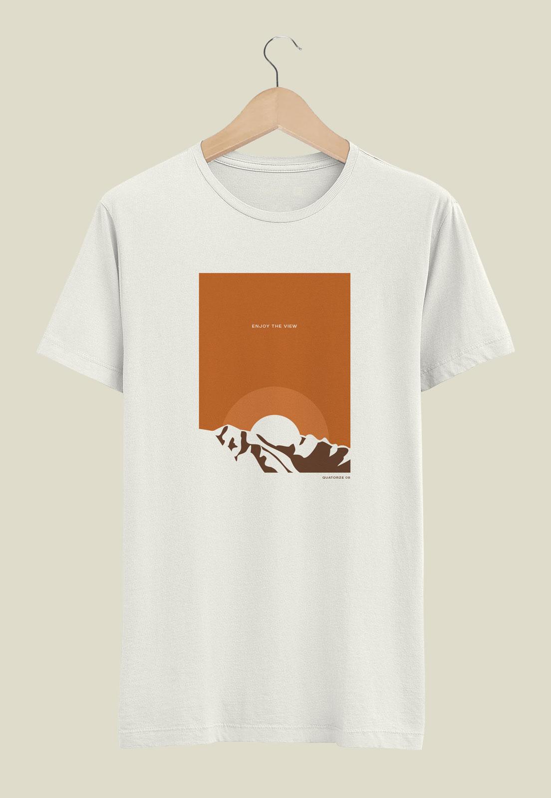 Camiseta Off-White de Algodão Enjoy The View