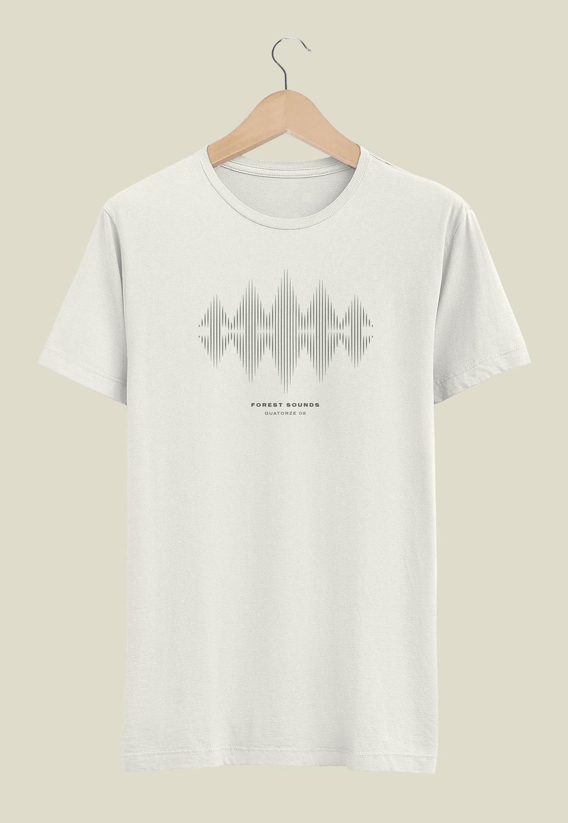 Camiseta Off-White de Algodão Forest Sound