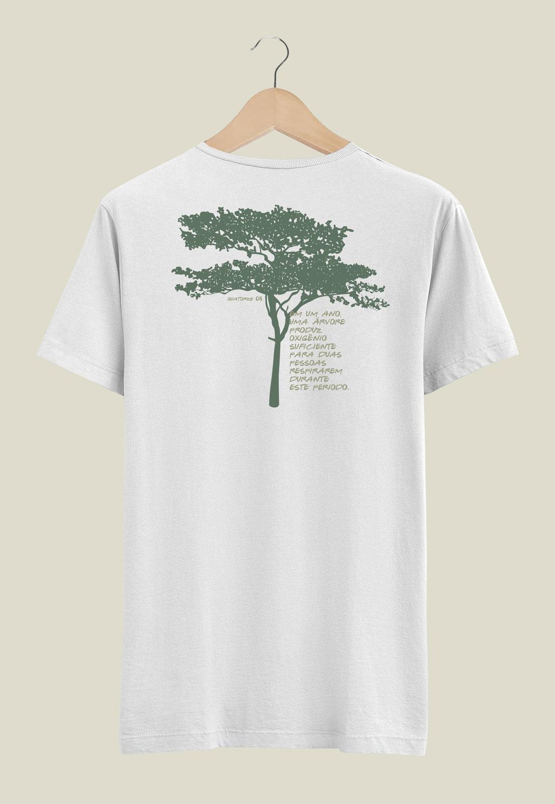 Camiseta Oxigênio da Árvore Branca